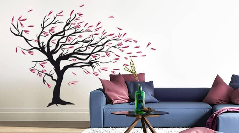 wandtattoo f rs wohnzimmer online kaufen wall. Black Bedroom Furniture Sets. Home Design Ideas