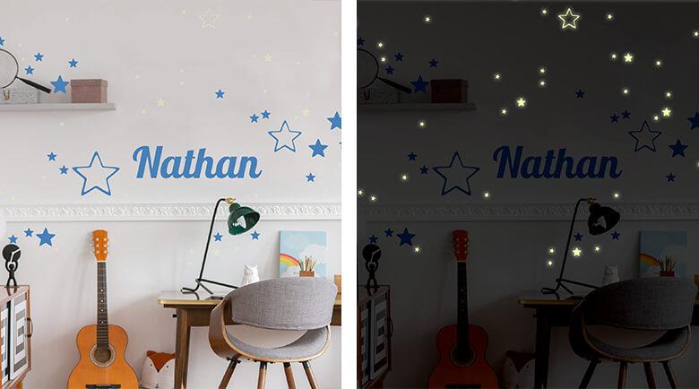 Wandtattoos Mit Nachtleuchtenden Stickern Leuchtsticker Wall Art De