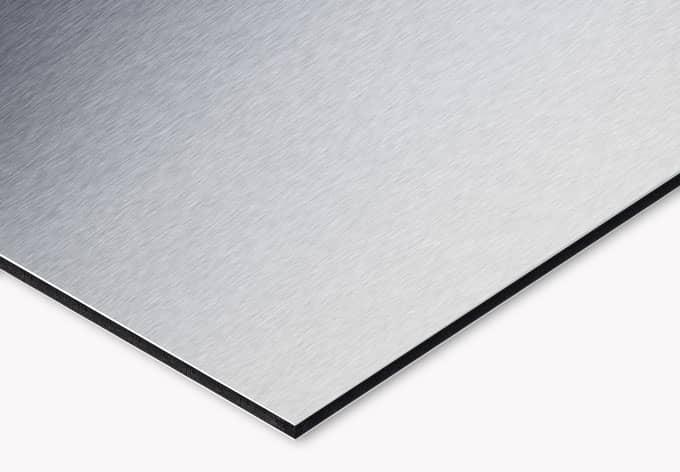 Küchenrückwand Alu Dibond Silber Mauer 04 Wall Artde