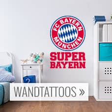 fc bayern m nchen fanshop wandtattoos tapeten. Black Bedroom Furniture Sets. Home Design Ideas