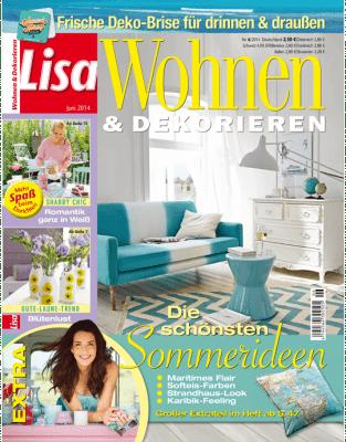lisa wohnen dekorieren das magazin lisa wohnen dekorieren stellt in. Black Bedroom Furniture Sets. Home Design Ideas
