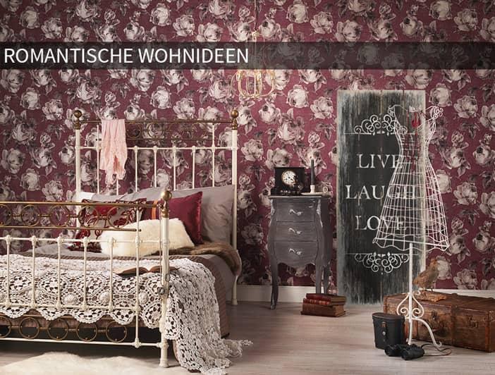 wohnwelten romantische wohnideen f r zuhause wall. Black Bedroom Furniture Sets. Home Design Ideas